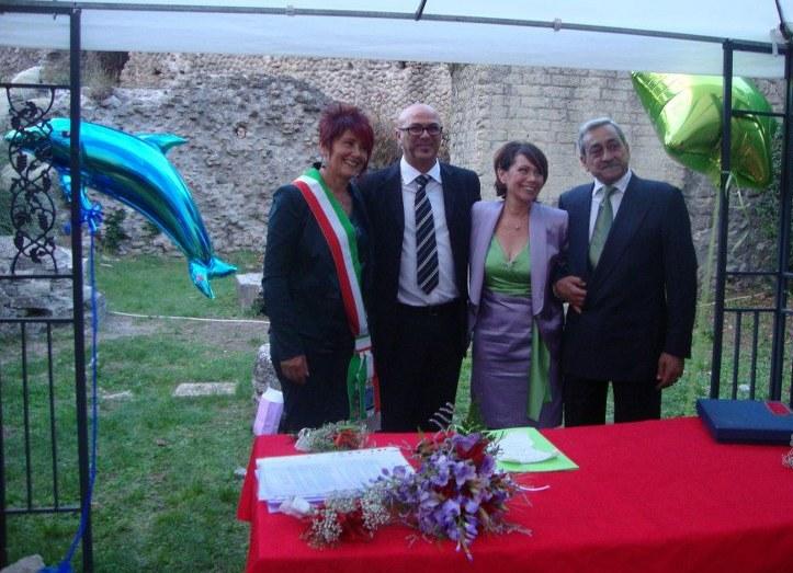 Caterina Ezio Laura Gianni (Celebrante con coniuge e sposi)