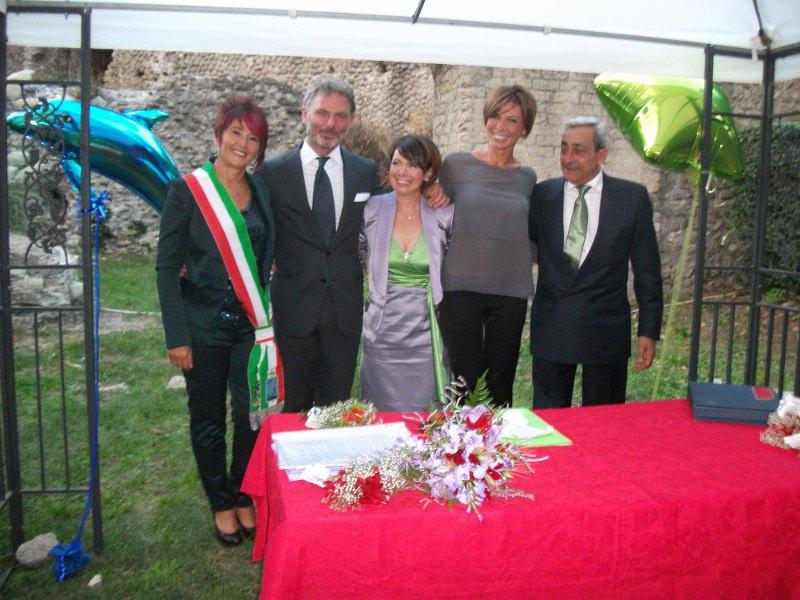 Caterina Raffaele Silvia Gianni (celebrante, testimoni e sposi)