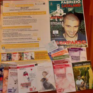 Antologie e locandina settima edizione concorso Caro Fabrizio ti racconto un ricordo