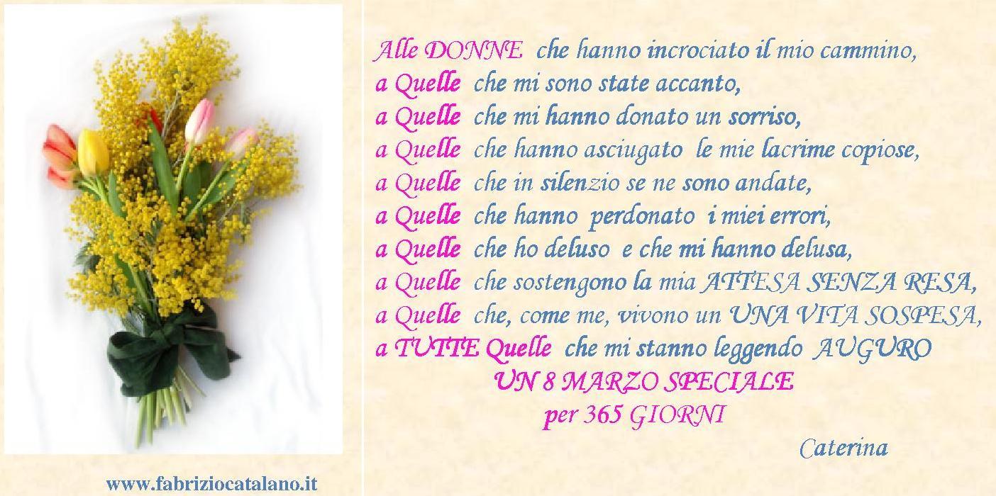 8 Marzo Giornata Internazionale Della Donna Fabrizio Catalano
