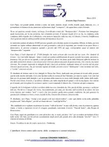 Lettera Papa Francesco Familiari Comitato Cercando Fabrizio e...