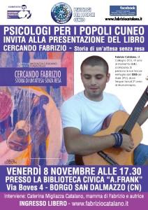 Locandina presentaz CERCANDO FABRIZIO 8 novembre 2013 Psicologi per i popoli di Cuneo