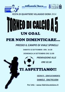 Locandina Torneo Calcio