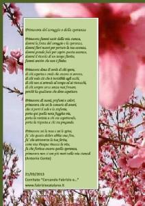 Poesia Primavera del Coraggio e della speranza