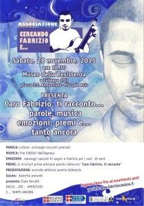 Premiazione concorso Caro Fabrizio ti racconto_28novembre2015