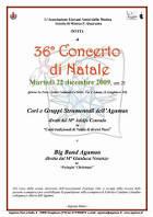 Locandina Concerto di Natale 2009 Agamus