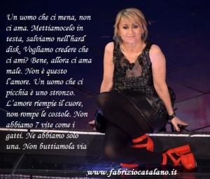 Sanremo 2013 monologo contro la violenza sulle donne di Luciana Littizzetto